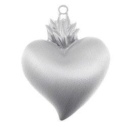 Wotum srebrne Serce gorejące satynowane srebro 925 WOTOS