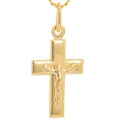 Złoty krzyżyk pr. 585 Krzyżyk z Jezusem ZK045