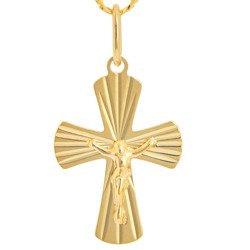 Złoty krzyżyk pr. 585 Krzyżyk z Jezusem ZK051