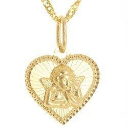 Złoty medalik pr. 585 Aniołek serce  ZM106