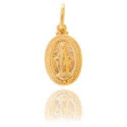 Złoty medalik pr. 585 Cudowny M.B. Niepokalana ZM002