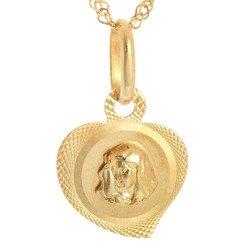 Złoty medalik pr. 585 M.B. Bolesna serce  ZM058