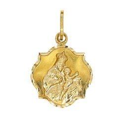 Złoty medalik pr. 585 M.B. Szkaplerzna koniczynka średnia błyszcząca ZM109
