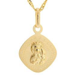 Złoty medalik pr. 585 Matka Boska Częstochowska  ZM088