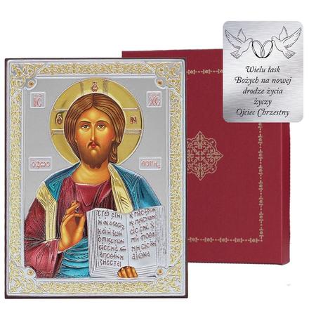 Ikona srebrna Jezus Pantokrator 31181DA