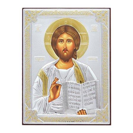 Ikona srebrna Jezus Pantokrator 31181OROA