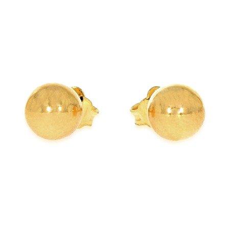 Kolczyki Złote Kulki pr. 585 kulka bardzo duża sztyft ZA006