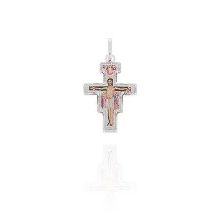 Krzyżyk srebrny (2,4 g) - Krzyż Frańciszkański Św. Damiana MK032