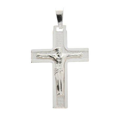 Krzyżyk srebrny z wizerunkiem Jezusa 4,9cm MO158