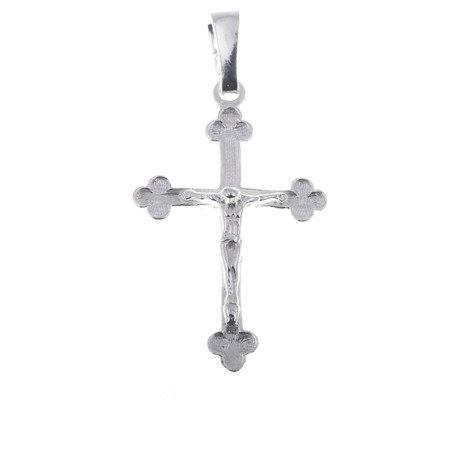 Krzyżyk srebrny z wizerunkiem Jezusa MO038
