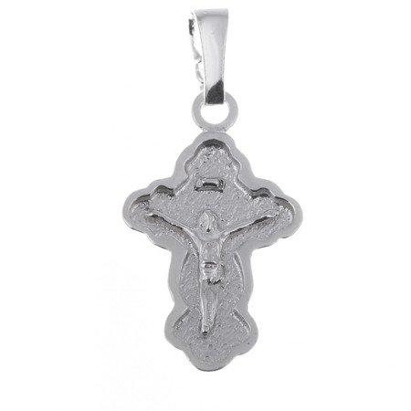 Krzyżyk srebrny z wizerunkiem Jezusa MO047
