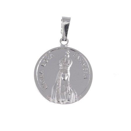 Medalik Fatima srebrny - Matka Boska Fatimska MM084