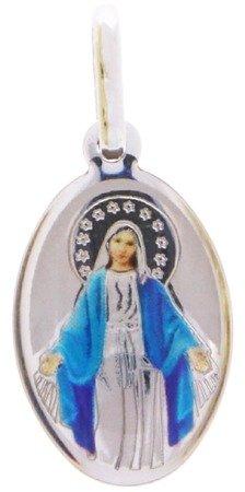 Medalik srebrny (1,6 g) - Matka Boża Niepokalana Cudowny medalik MK002