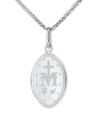 Medalik srebrny (1,7 g) - Matka Boża Niepokalana Cudowny medalik MK016
