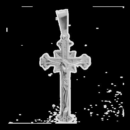 Medalik srebrny - Krzyżyk z  wizerunkiem Jezusa MO051