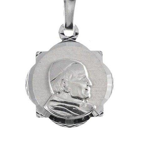 Medalik srebrny diamentowy - Św. Jan Paweł II MD27