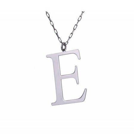 Naszyjnik celebrytka literka E 1,0 cm srebro rodowane pr 925 CELE1CM