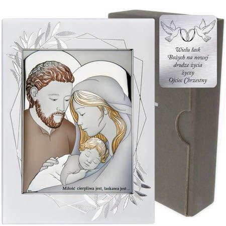 Obrazek Srebrny Święta Rodzina DS25FOC