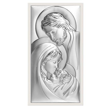 Obrazek Srebrny Święta Rodzina biała ramka 6380W