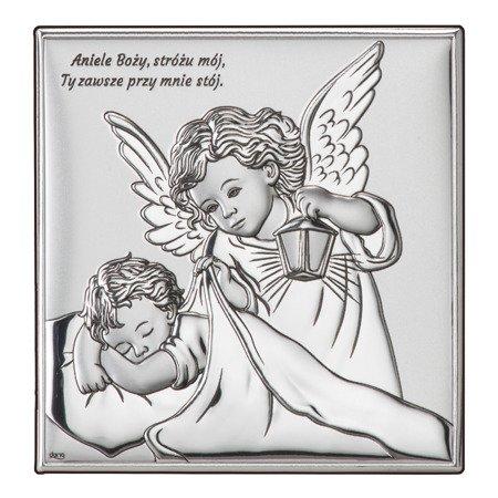 Obrazek srebrny Aniołek Twój Anioł Stróż DS15