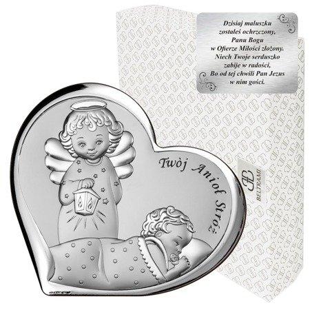 Obrazek srebrny Aniołek z latarenką 6549