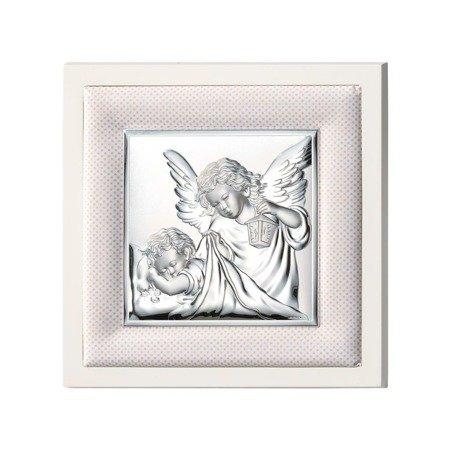 Obrazek srebrny Aniołek z latarenką 75020P
