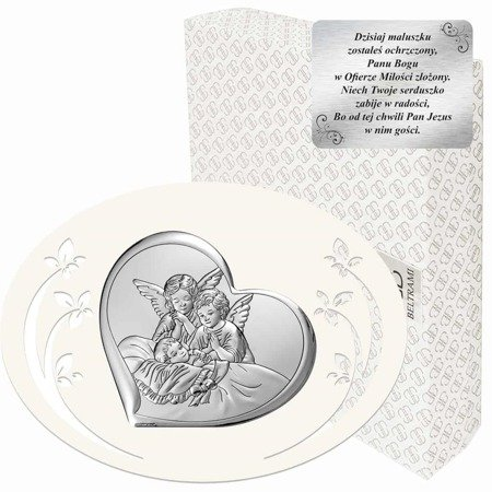 Obrazek srebrny Aniołki nad dzieckiem 6450P