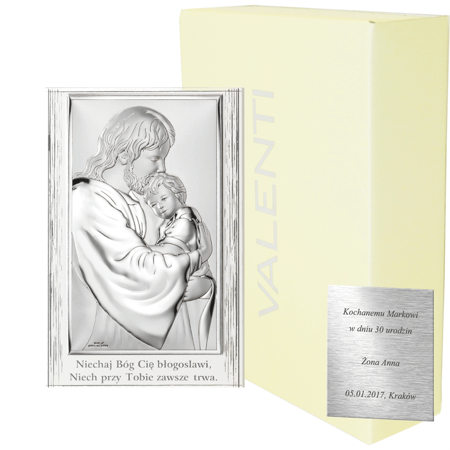 Obrazek srebrny Jezus Chrystus z dzieckiem 81286PL