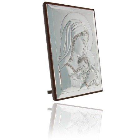 Obrazek srebrny Matka Boska z dzieciątkiem 31128