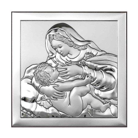 Obrazek srebrny Matka Boska z dzieciątkiem 6429