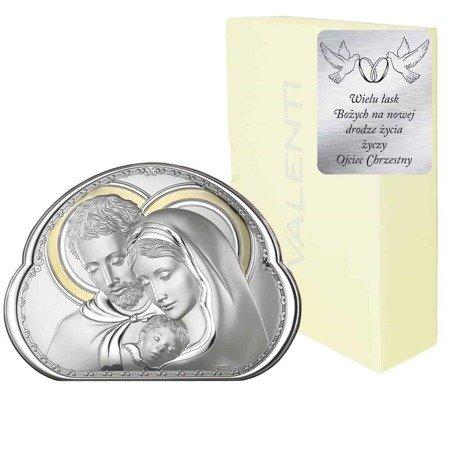 Obrazek srebrny Święta Rodzina 8002ORO