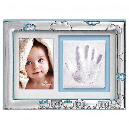 Ramka srebrna z miejscem na odcisk dłoni dziecka 3584C