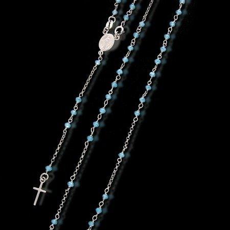 Różaniec srebrny - 5 dziesiątek na szyję 7,4-7,8 g, srebro pr. 925 RC006