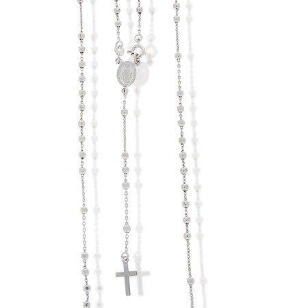 Różaniec srebrny - 5 dziesiątek z zapięciem rodowany 6,4-6,8 g, srebro pr. 925 RC011