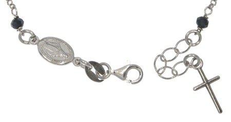 Różaniec srebrny - bransoletka różańcowa na rękę, dziesiątek, 3,0-3,4 g, srebro pr. 925 BRS37