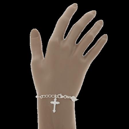 Różaniec srebrny - bransoletka różańcowa na rękę, dziesiątka, 3,7-4,5 g, srebro pr. 925 BRS53