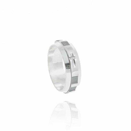 Różaniec srebrny, dziesiątka, obrotowa obrączka na palec, rozmiar 12-28  Srebro pr. 925 RPO02