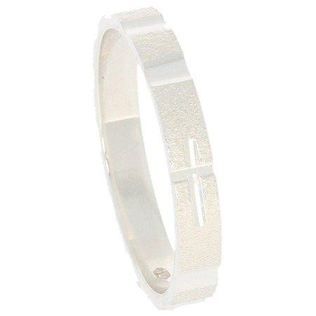 Różaniec srebrny obrączka na palec, rozmiary 12-22 Srebro pr. 925 RPM12