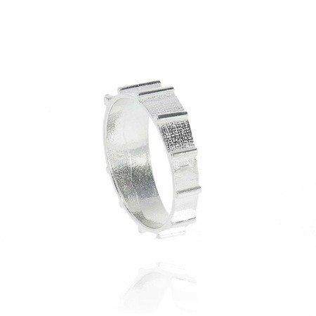 Różaniec srebrny obrączka na palec zwężany, rozmiary 12-29  Srebro pr. 925 RPM03