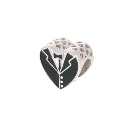 Srebrna przywieszka pr 925 Charms serce ślub PAN063