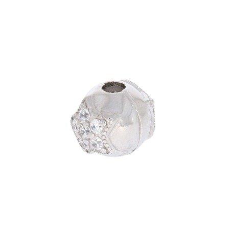 Srebrna przywieszka stoper pr 925 Charms kulka gwiazdka cyrkonie PAN041