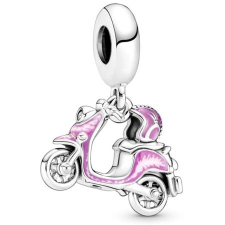 Srebrna przywieszka stoper pr 925 Charms kulka z sercem cyrkonie PAN003