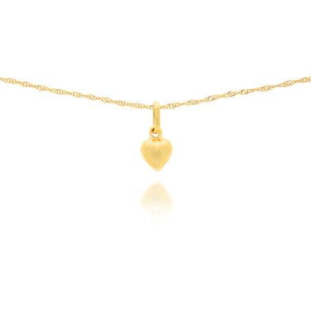 Złota przywieszka pr. 585 Serce małe gładkie ZP022