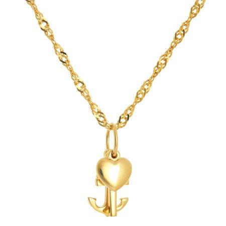 Złoty Krzyżyk wiara nadzieja miłość ZK036