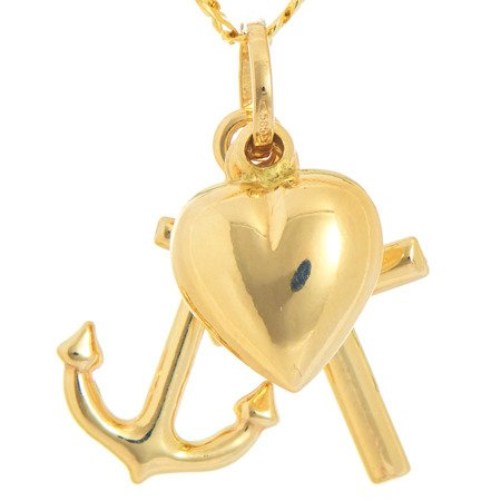 Złoty Krzyżyk wiara nadzieja miłość ZK038