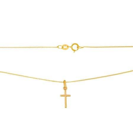 Złoty krzyżyk pr. 585 Krzyżyk drobny prosty ZK022