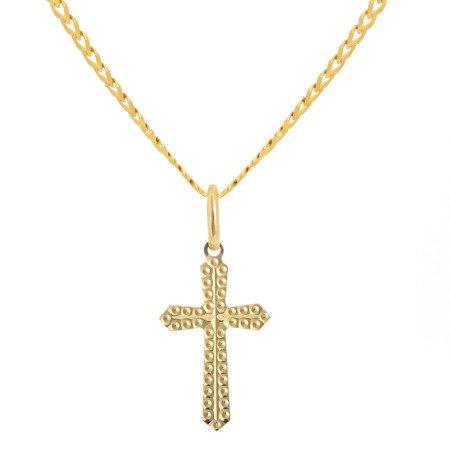 Złoty krzyżyk pr. 585 Krzyżyk płaski ZK039