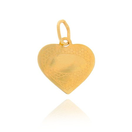 Złoty medalik pr. 585 Aniołek serce  ZM105