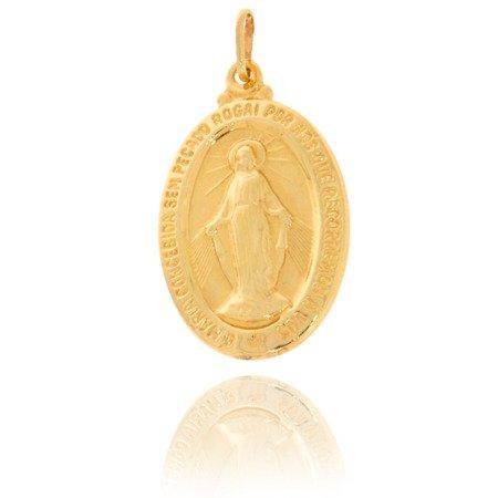 Złoty medalik pr. 585 Cudowny M.B. Niepokalana ZM005