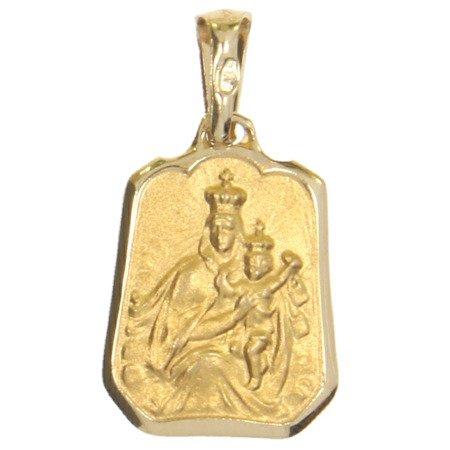 Złoty medalik pr. 585 M.B. Szkaplerzna dzwonek ZM022